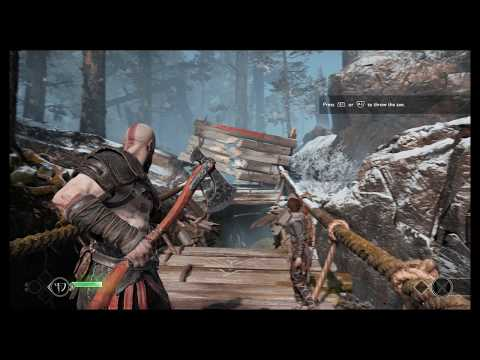 God of War - The Marked Trees: Vault, Equip Leviathan Axe, Aim,Throw & Recall Bridge Tutorial (2018)