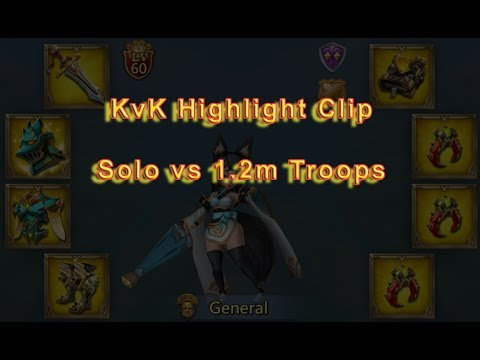 Lords Mobile - Solo Vs 1.2m Troops   Event Highlight