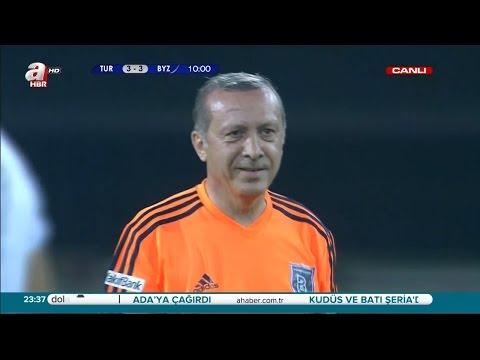 Başbakan Recep Tayyip Erdoğan Vs Ünlüler Maçı   4-3 Tek Parça HQ 1080p