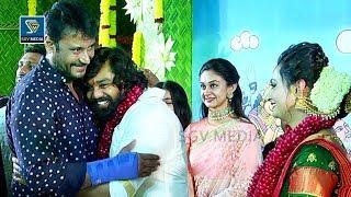Darshan at Dhruva Sarja Engagement  Dhruva Sarja Marriage Video  Dhruva Sarja Prerana Wedding