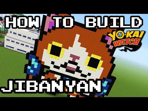 How To Build Jibanyan In Minecraft Yo Kai Watch