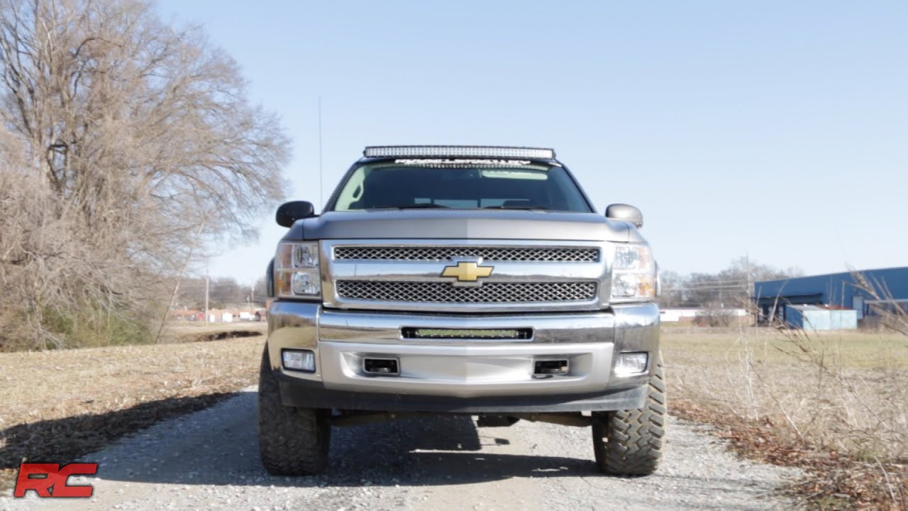 Merveilleux 2007 2013 Chevrolet Silverado 1500 20 Inch Single Row LED Light Bar Bumper  Mount   YouTube