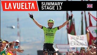 Summary - Stage 13 - La Vuelta 2018