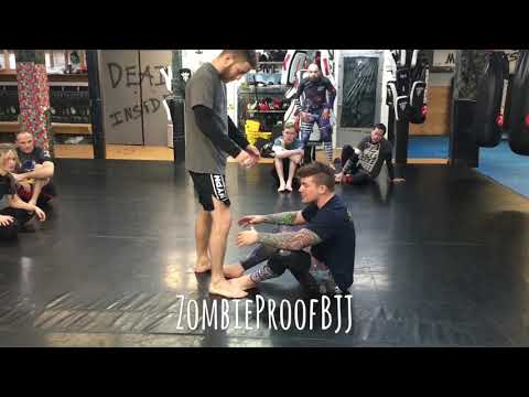 Double Outside Ashi Entry From Seated Open Guard - ZombieProofBJJ (NoGi)