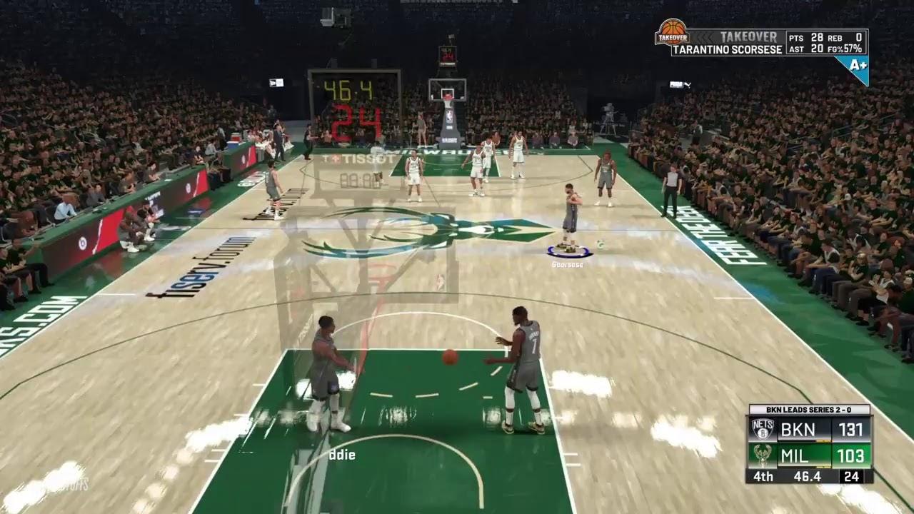 NBA 2K20 MyCareer: Brooklyn Nets Vs Milwaukee Bucks (ECF ...