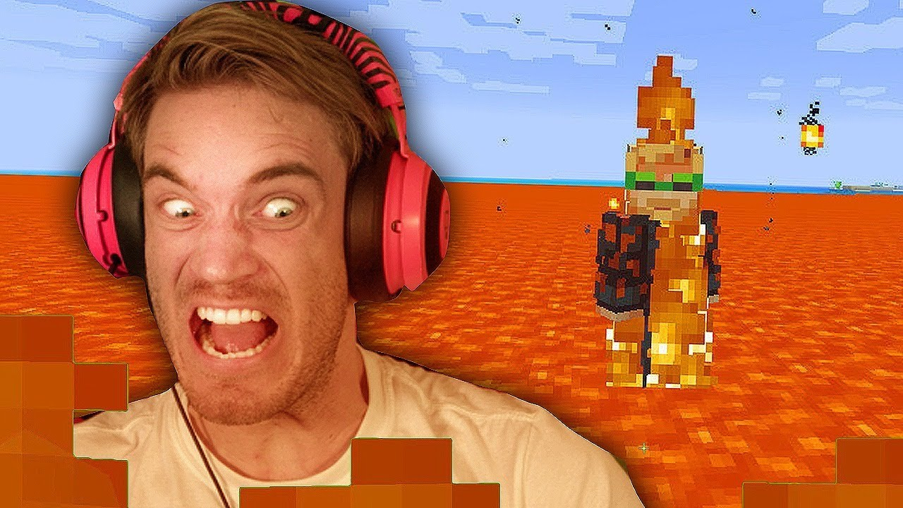 Minecraft but the FLOOR IS LAVA