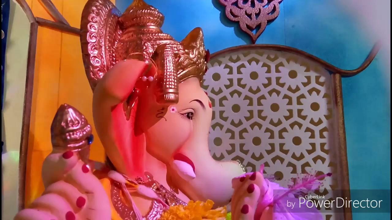Ganpati Decoration Ideas At Home Youtube