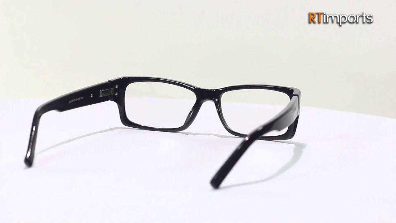 28e2c90d53912 Armação Oculos P  Grau Acetato Unissex Preto RT1 - YouTube