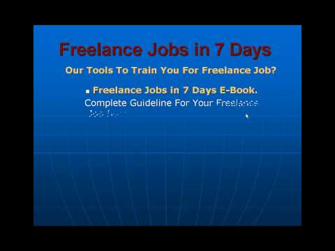Freelance Jobs in 7 Days video by freelance net programmer trainer and writer m yakub chowdhury