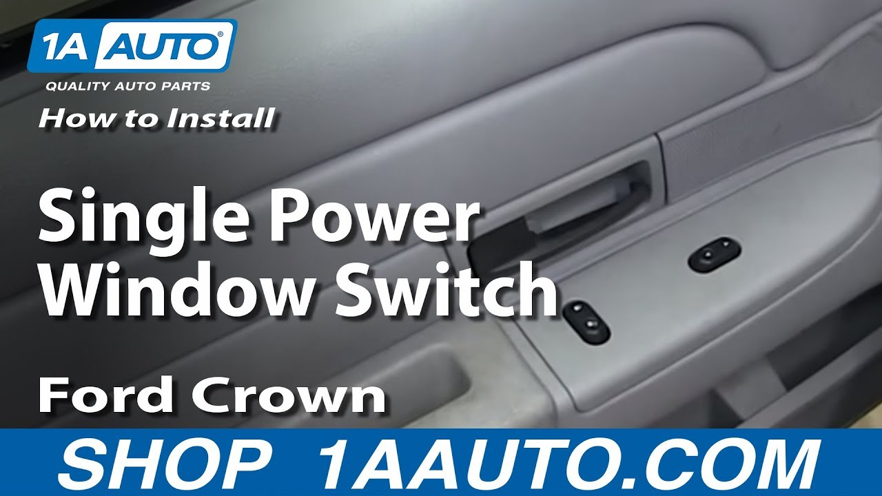 How To Install Replace Single Power Window Switch 2003 08 Ford Crown 02 Vic Fuse Diagram Victoria