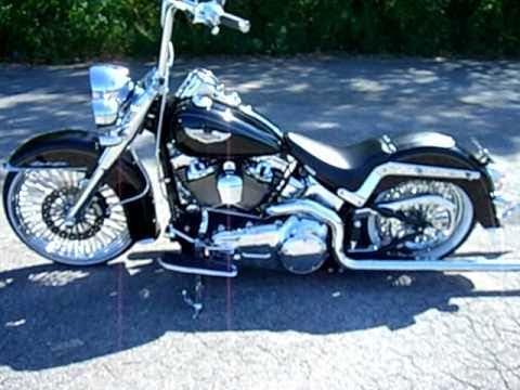 Harley Davidson FLSTN Softail Deluxe 09'  w/ Shotgun Shock BurlyBrand Samson chrome slammed