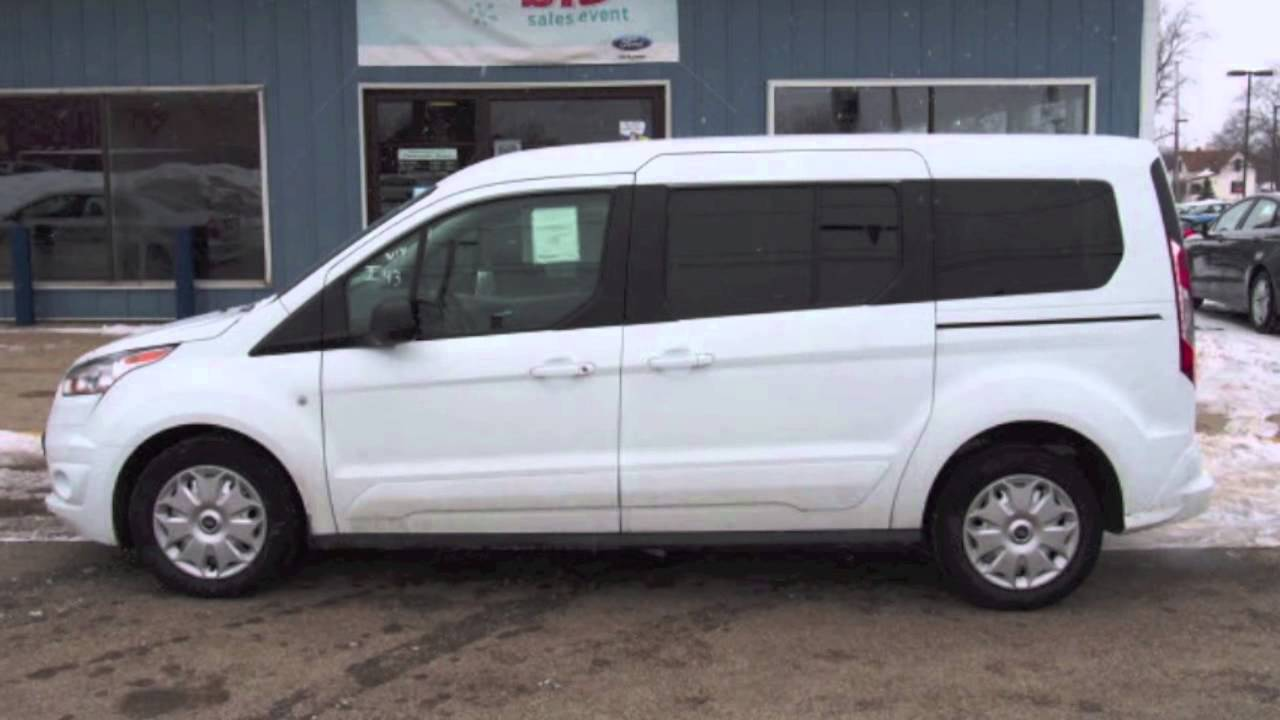 2014 ford transit connect wagon xlt white 27520 youtube