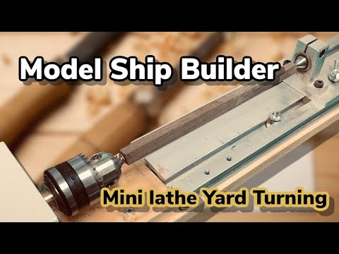 Model Ship Builder : Part 4 : Mast Turned From a Single Block