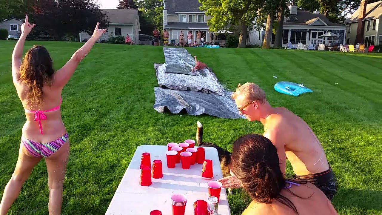 Outdoor Games Adults Drinking