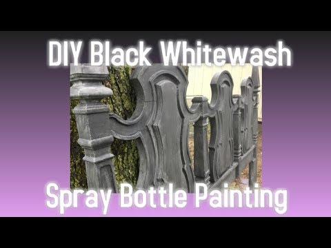 SPRAY BOTTLE HACK! Spray Bottle Painting Chalk Paint Hack!  DIY Black Whitewash * NEW TECHNIQUE