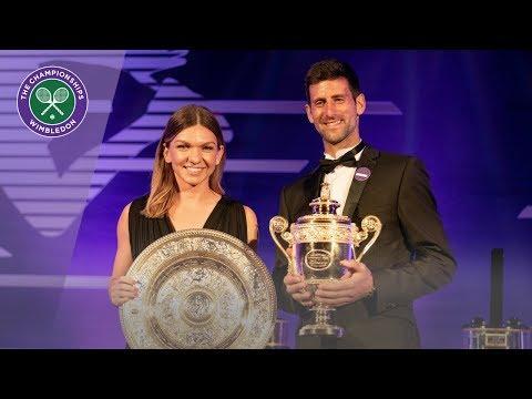 Novak Djokovic and Simona Halep discuss Wimbledon 2019 triumphs at Champions' Dinner