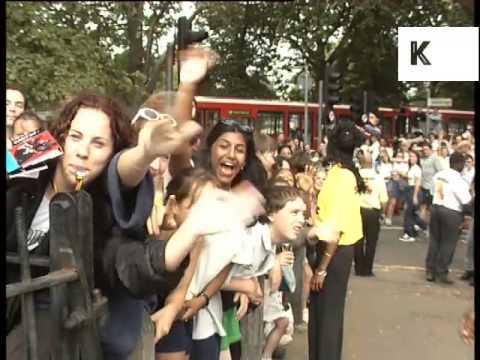1990s Screaming Teenage Girl Fans, London