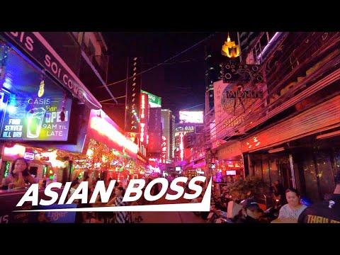 [4K] Bangkok, Thailand's Red Light District At Night During