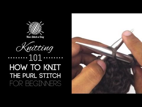 How To Knit Purl Stitch For Dummies : Knitting 101 : How to Cast On for Beginners [2 of 7] Doovi