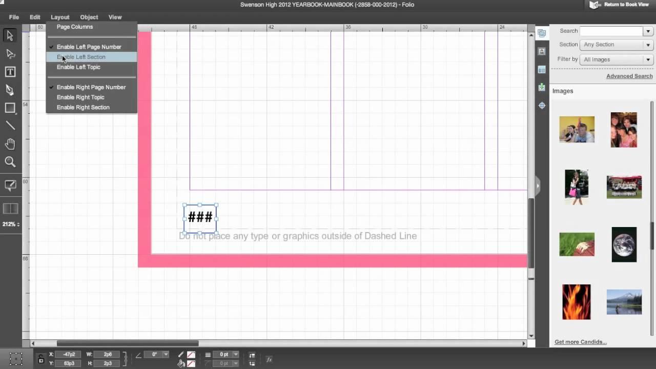 Edesign Edesign Training Edit Folio Or Master Pages Youtube