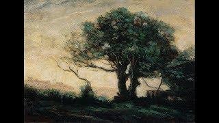 (Re-upload) Camille Corot Souvenir of Castle Gandolfo Tonalist Landscape Oil Painting