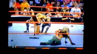 Repeat youtube video WWE Victoria Depantsed By Trish Stratus Thong!