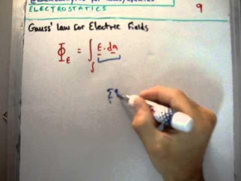 Electrostatics 9 : Gauss' Law for Electric Fields