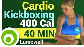 Cardio Kickboxing Workout - 400 Calorie Cardio Routine