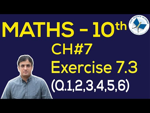 Maths Class 10th Chapter 7 Exercise 7.3 Q.1...6 - YouTube