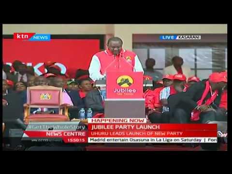 JUBILEE PARTY LAUNCH: President Uhuru Kenyatta's [FULL SPEECH] on Jubilee agenda