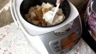 МУЛЬТИВАРКА  КУРИЦА тушеная с картофелем в сметане рецепт