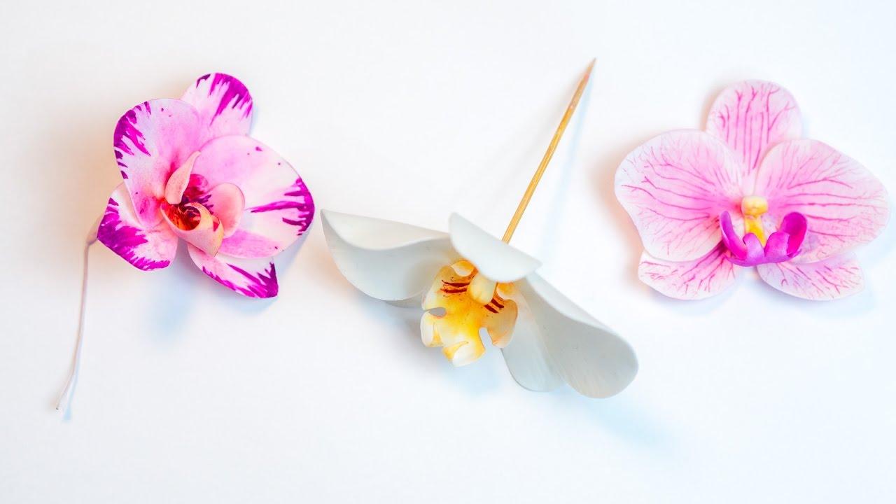 Zuckerblumen  Zucker Orchideen Alle Farben    schöne Tortendekoration Hochzeit