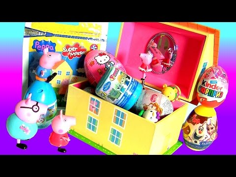 Surprise Peppa Pig Music Box Play Doh 3D Disney Frozen TsumTsum Fashems ClayBuddies