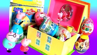 Surprise Peppa Pig Music Box Play Doh 3D Disney Frozen TsumTsum Fashems ClayBuddies