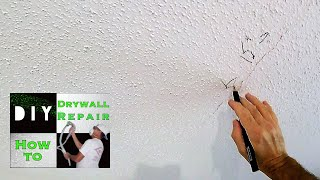 How to repair your cracked drywall ceiling with this trick   So that crack never comes back!