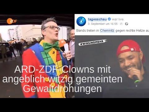 Wie viele ARD-ZDF-Clowns noch? Konkret benannten Personen mit Gewalt drohen immer witzig?