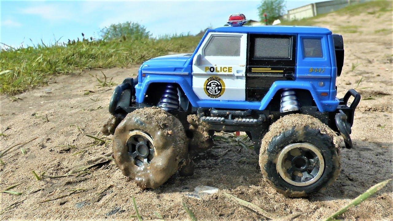 Полицейская Машинка в грязи Распаковка Игрушек Играем в Игрушки для мальчиков