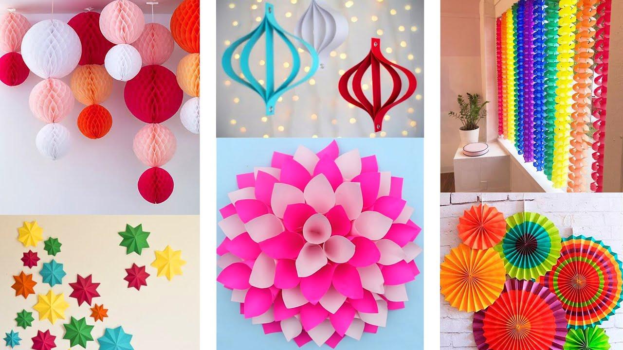 DIY Decorations Idea   Home decorations idea   Paper Decoration ideas   diy  room decor   Paper craft