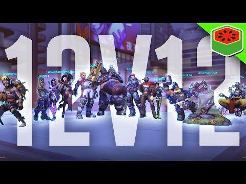 INSANE 12vs12 GLITCH!   Overwatch
