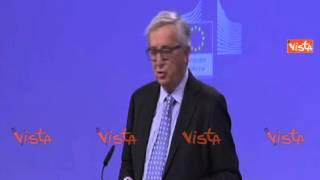 JUNCKER: RENZI SBAGLIA A CRITICARE SEMPRE LA COMMISSIONE EUROPEA