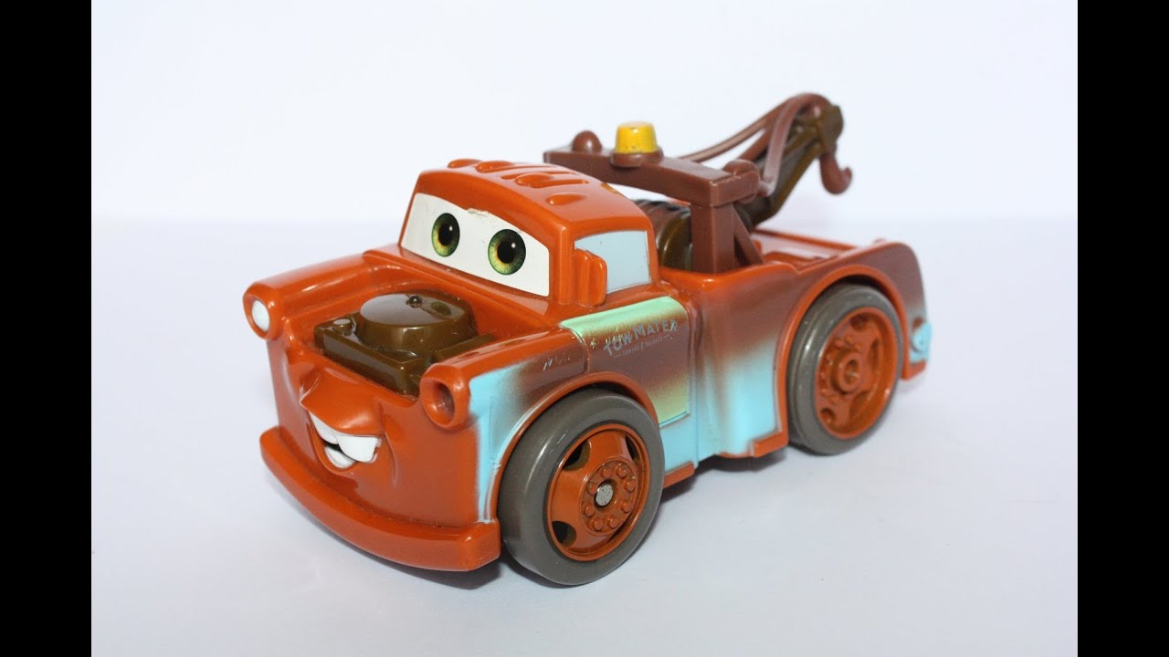 Disney Pixar Cars 2 Tow Mater Shake n Go Talking Toy [HD] - YouTube