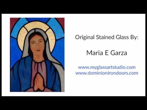 Painting Virgin Mary Face on Stained Glass