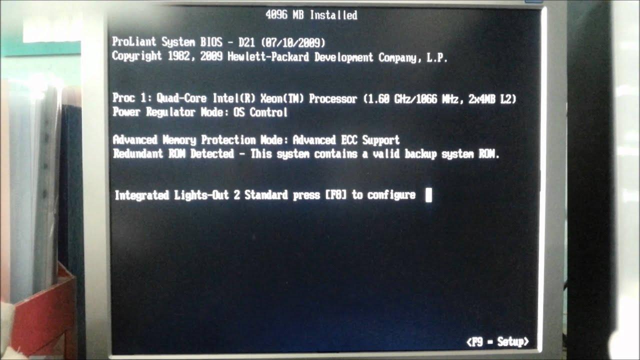HP Proliant ML350G5 Smart Array ERROR