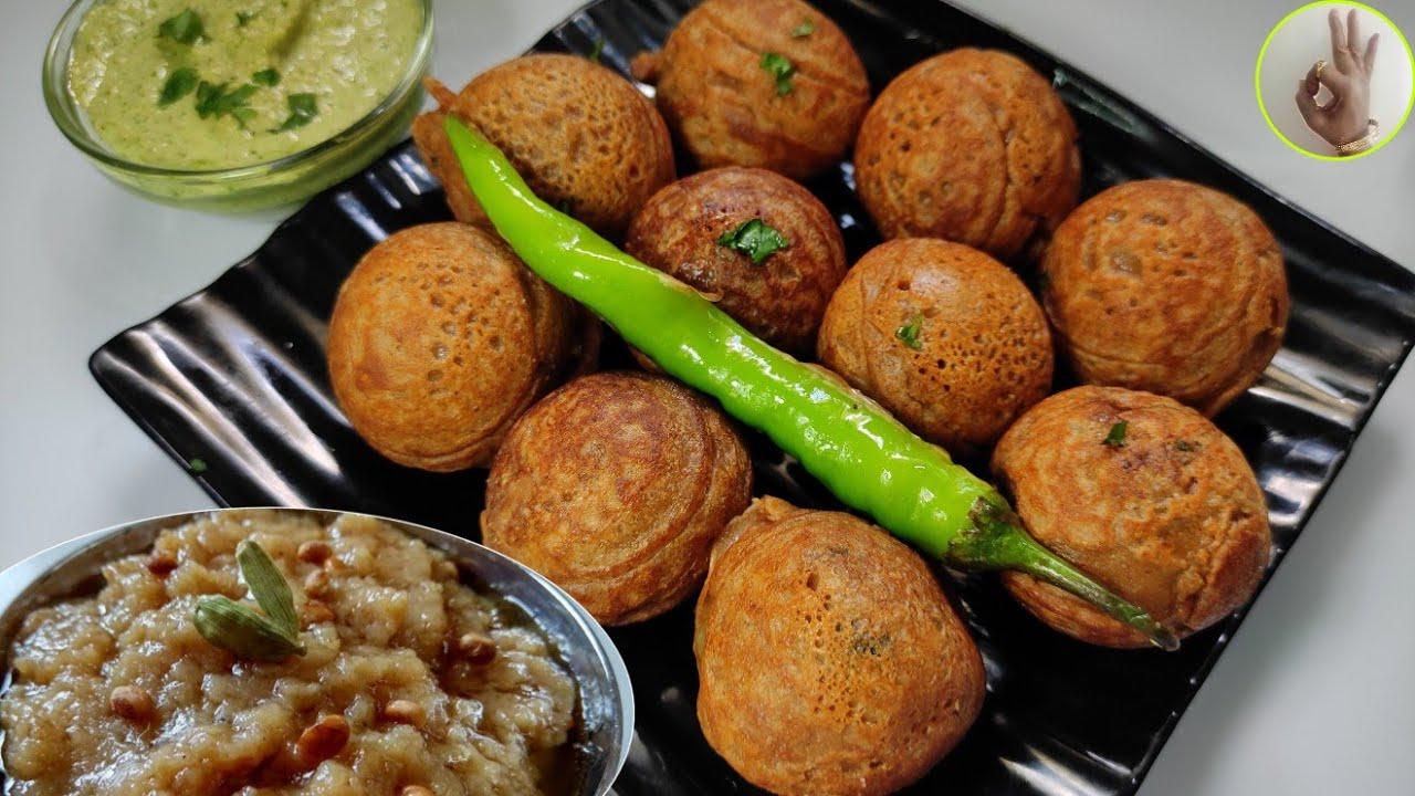 2 tsp तेलात उपवासाचे बटाटे वडे अणि शिरा रेसिपी | Healthy Fasting Batata Vada And Shira recipe