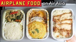 AIRPLANE FOOD on AirAsia ft. Thai Curry & Chicken Rice