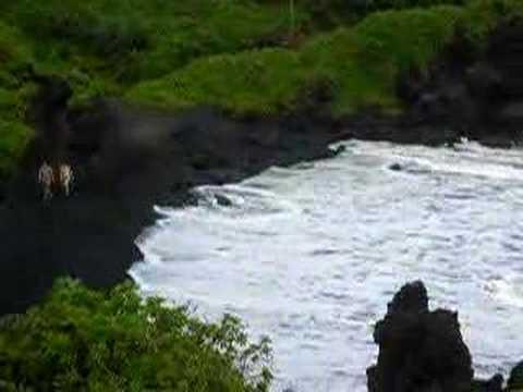 15. Honokalani Black Sand Beach