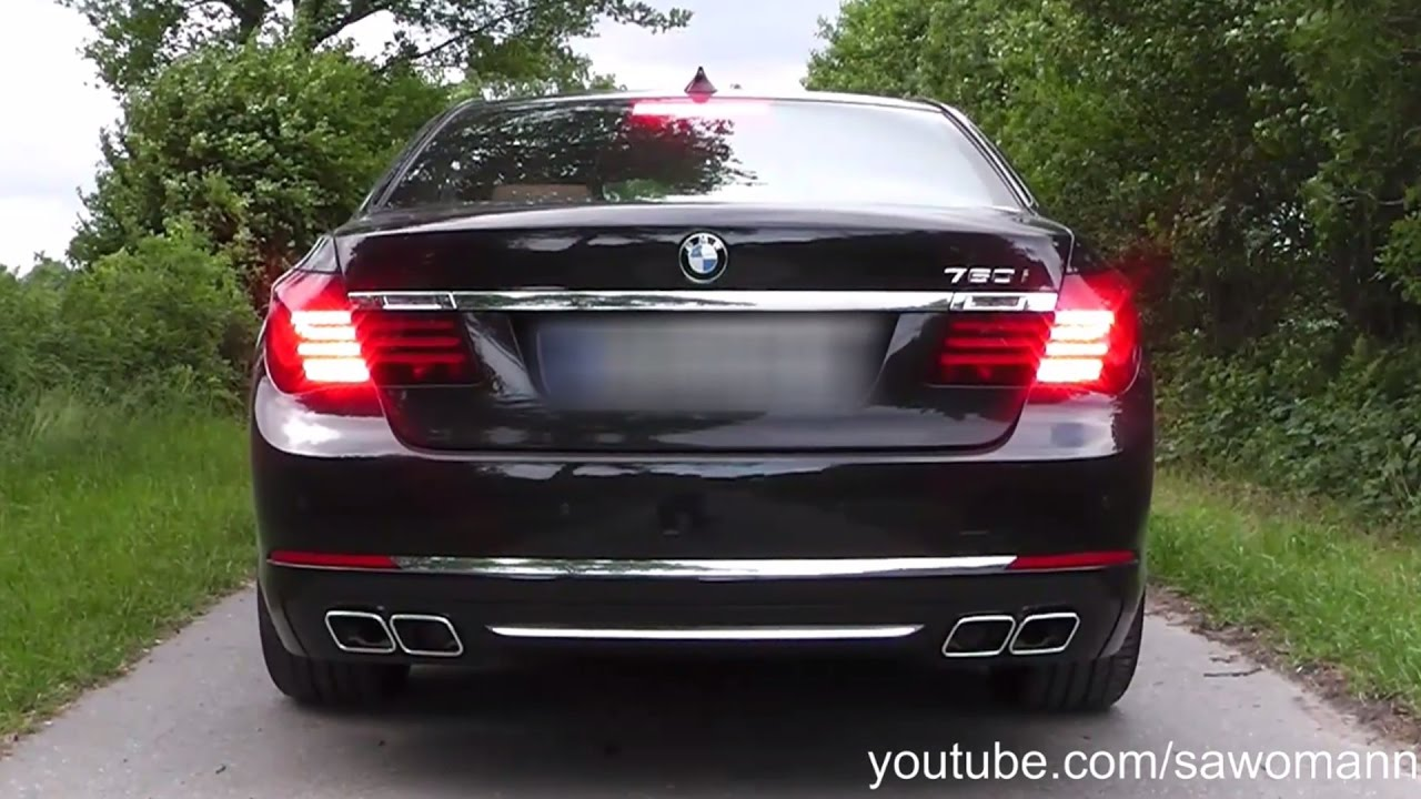 2015 bmw 760i f01 lci 544 hp launch control engine rev exhaust sound pull away youtube. Black Bedroom Furniture Sets. Home Design Ideas