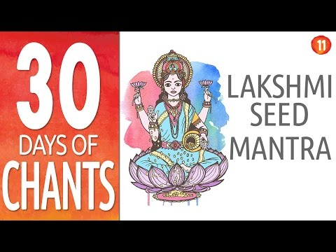 Day 11 - LAKSHMI MANTRA [ 108 Repetitions ] - Powerful Mantra for Prosperity - Diwali Special