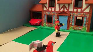 Stop-Motion Movie | ROBLOX Work at a Pizza Place | POOR DELIVERY GUY