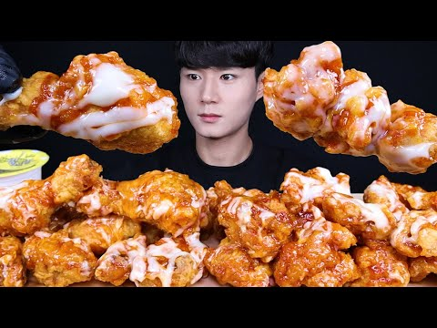 슈프림양념치킨 치밥 치킨 먹방ASMR MUKBANG FRIED CHICKEN & SWEET CHICKEN チキン 甘いチキン eating sounds
